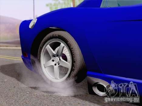 Dodge Viper SRT-10 Coupe для GTA San Andreas вид изнутри