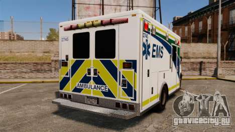 Brute Alberta Health Services Ambulance [ELS] для GTA 4 вид сзади слева