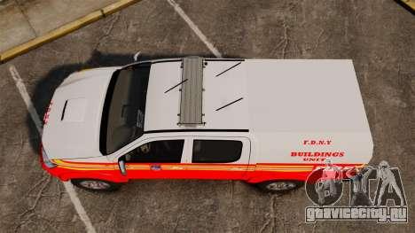 Toyota Hilux FDNY v2 [ELS] для GTA 4 вид справа