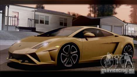 Lamborghini Gallardo LP560-4 Coupe 2013 V1.0 для GTA San Andreas вид снизу