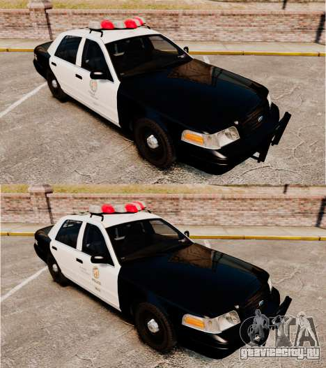 Ford Crown Victoria 1999 LAPD & GTA V LSPD для GTA 4 вид изнутри