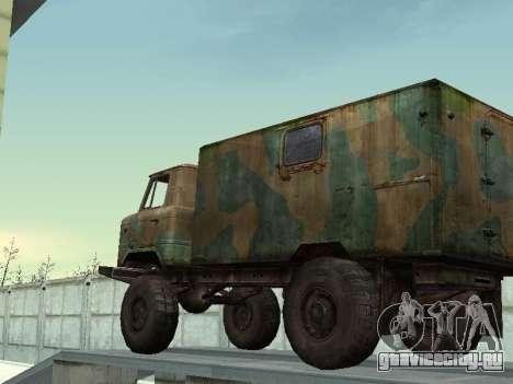 ГАЗ 66 для GTA San Andreas вид сбоку