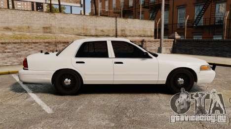 Ford Crown Victoria 1999 Unmarked Police для GTA 4 вид слева
