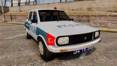 Renault 12 Turkish Police [ELS] для GTA 4