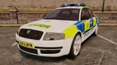 Skoda Superb 2006 Police [ELS] Whelen Edge для GTA 4