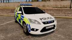 Ford Focus Estate 2009 Police England [ELS] для GTA 4