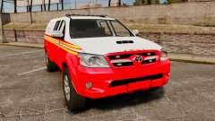 Toyota Hilux FDNY v2 [ELS] для GTA 4