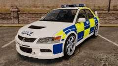 Mitsubishi Lancer Evolution IX Police [ELS] для GTA 4