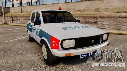 Renault 12 Turkish Police [ELS] для GTA 4