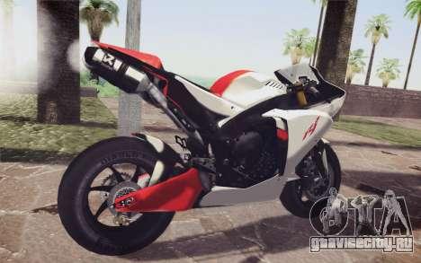 Yamaha YZF R1 для GTA San Andreas вид сзади слева