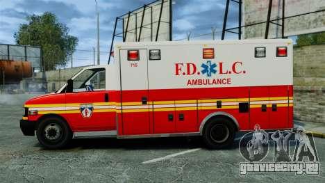 Brute FDLC Ambulance [ELS] для GTA 4 вид слева