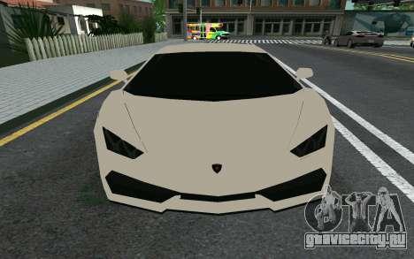 Lamborghini Huracane LP610-4 для GTA San Andreas вид слева
