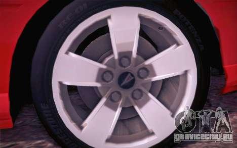 Pontiac GTO 2005 для GTA San Andreas вид изнутри