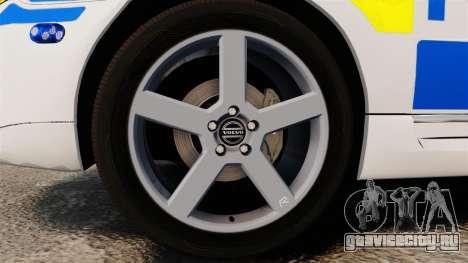 Volvo V70 II Swedish Police [ELS] для GTA 4 вид сзади