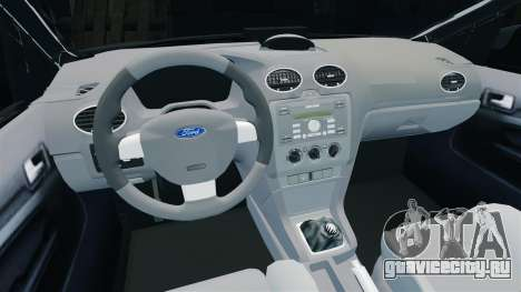 Ford Focus Metropolitan Police [ELS] для GTA 4 вид изнутри