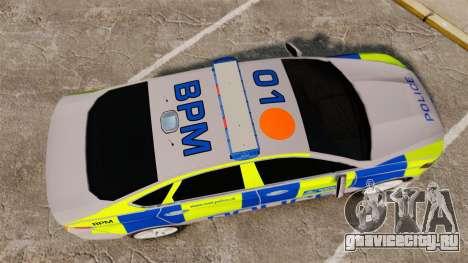 Ford Mondeo 2014 Metropolitan Police [ELS] для GTA 4 вид справа
