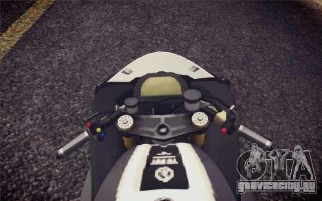 Yamaha YZF R1 2012 Black для GTA San Andreas вид справа