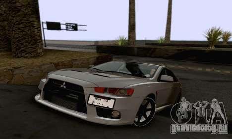 Mitsubishi Lancer X Evolution для GTA San Andreas салон