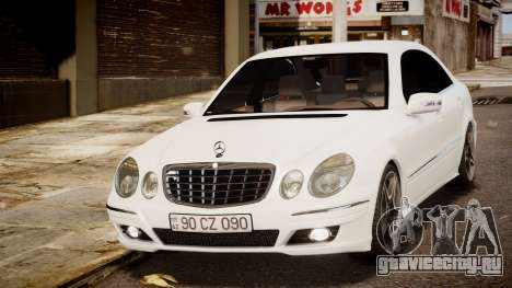 Mercedes-Benz E-Class Executive 2007 v1.1 для GTA 4 вид сзади слева