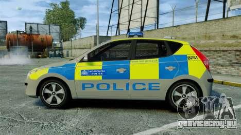Hyundai i30 Metropolitan Police [ELS] для GTA 4 вид слева