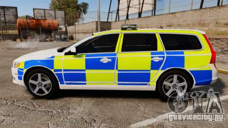 Volvo V70 South Wales Police [ELS] для GTA 4 вид слева