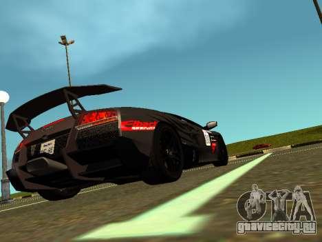 Lamborghini Murcielago LP670-4 SV Team Ravenwest для GTA San Andreas вид слева