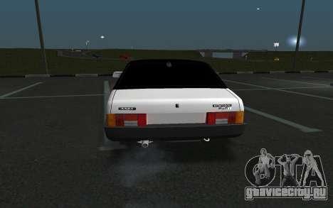 ВАЗ 21099 для GTA San Andreas вид справа