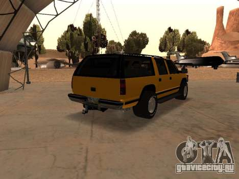 GMC Yukon для GTA San Andreas вид сзади