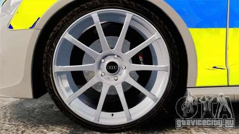 Audi S4 ANPR Interceptor [ELS] для GTA 4 вид сзади