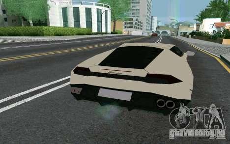 Lamborghini Huracane LP610-4 для GTA San Andreas вид сзади слева