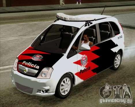 Chevrolet Meriva для GTA San Andreas вид сзади слева