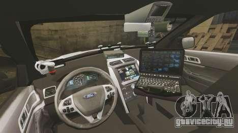 Ford Explorer 2013 LCPD [ELS] v1.5X для GTA 4 вид сзади