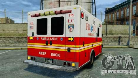 Brute FDLC Ambulance [ELS] для GTA 4 вид сзади слева