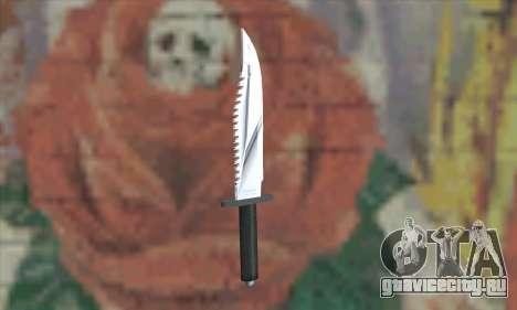 Нож Рэмбо для GTA San Andreas второй скриншот