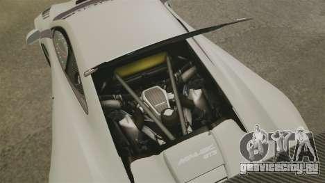 McLaren MP4-12C GT3 Blank для GTA 4 вид изнутри