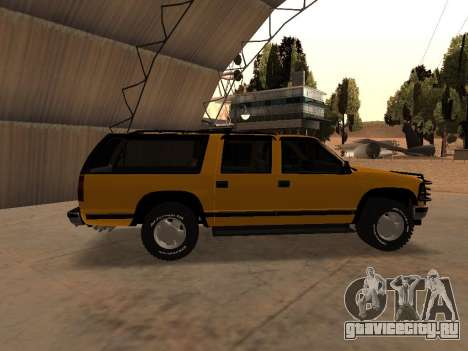 GMC Yukon для GTA San Andreas вид сзади слева