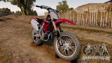 Kawasaki KX250F (Honda) для GTA 4