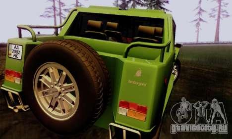 Lamborghini ML002 для GTA San Andreas вид слева