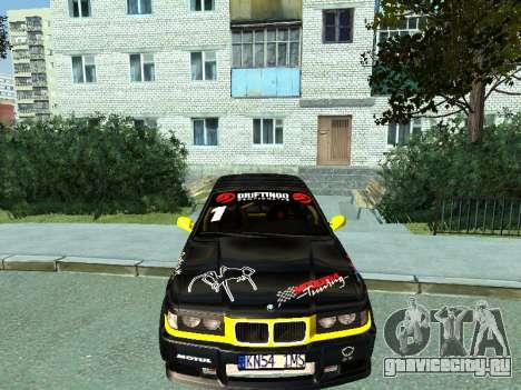 BMW M3 E36 Compact Darius Kepezinskas для GTA San Andreas вид слева