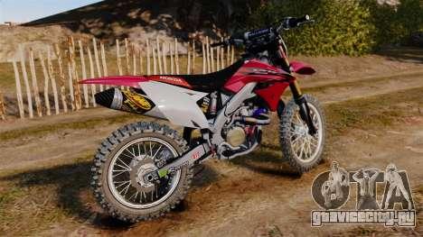 Kawasaki KX250F (Honda) для GTA 4 вид слева