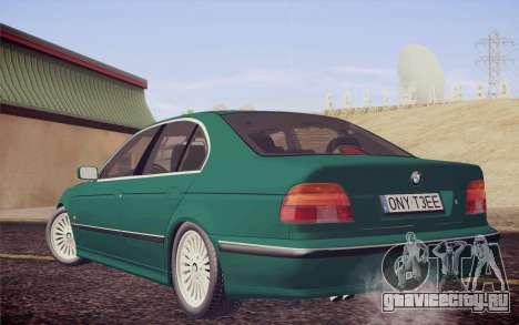 BMW M5 E39 528i Greenoxford для GTA San Andreas вид слева