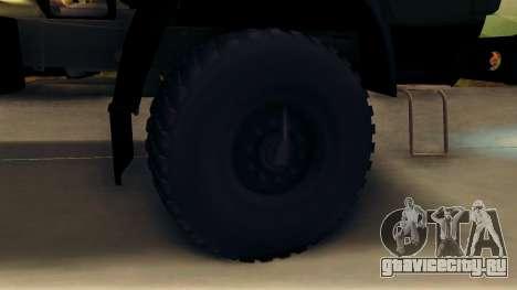 КамАЗ 4310 Бревновоз для GTA San Andreas вид сзади