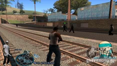 C-HUD Rifa by HARDy для GTA San Andreas второй скриншот
