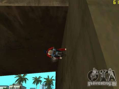 Езда по стенам и потолкам v2.0. для GTA San Andreas третий скриншот