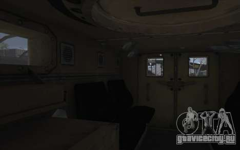 MRAP из BF4 для GTA San Andreas вид изнутри