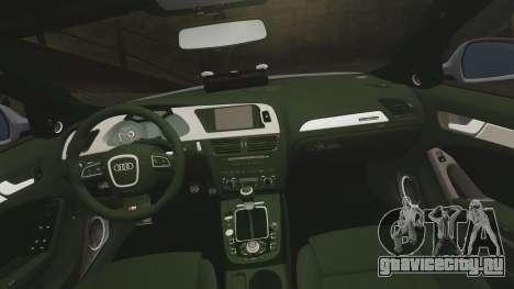 Audi S4 Unmarked Police [ELS] для GTA 4 вид сбоку