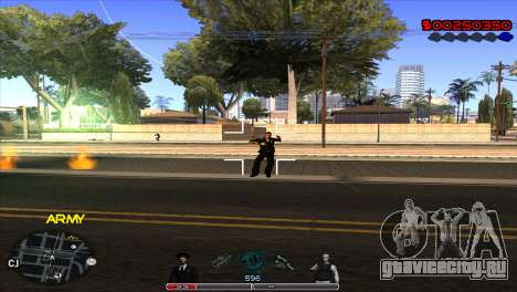 C-Hud Army by Kin для GTA San Andreas третий скриншот
