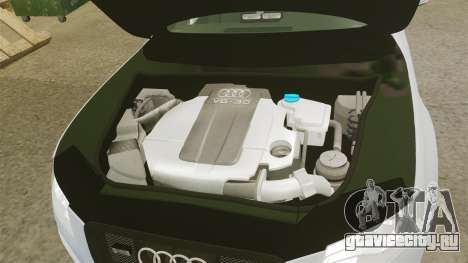 Audi S4 Unmarked Police [ELS] для GTA 4 вид изнутри