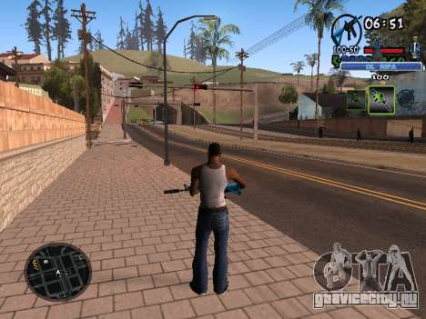 С-HUD Old Rifa для GTA San Andreas