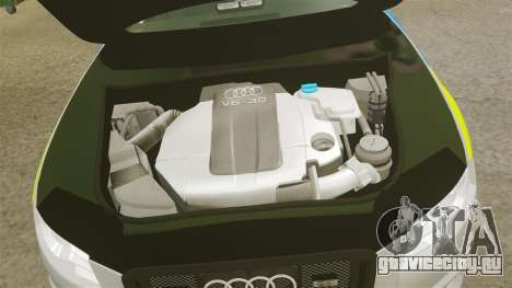 Audi S4 ANPR Interceptor [ELS] для GTA 4 вид изнутри
